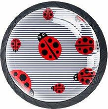 Ladybug Crystal Drawer Handles Furniture Glass