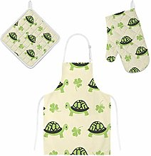 Lafle Oven Gloves Insulation Pad Apron Cute