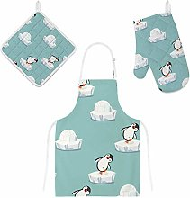 Lafle Oven Gloves Insulation Pad Apron Funny