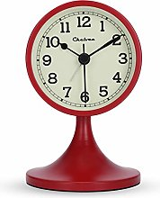 "Lafocuse 3"" Cherry Red Metal Analog Alarm"