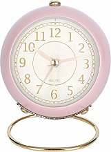 "Lafocuse 3"" Pink Metal Alarm Clock with"