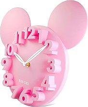 Lafocuse 3D Minnie Mouse Clock Pink Super Cute
