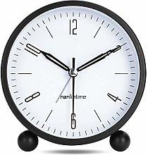Lafocuse Black Alarm Clock Analog Silent