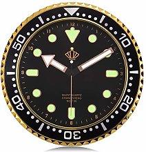 Lafocuse Black Wall Clock Glow in Dark Non Ticking