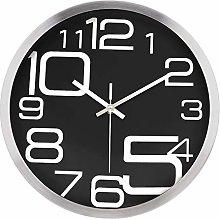 Lafocuse Creative Black and Silver Wall Clock 30cm