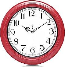 Lafocuse Garnet Red Wall Clock for Kitchen 30cm