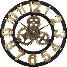 Lafocuse Gold Steampunk Gear Wall Clock 45cm