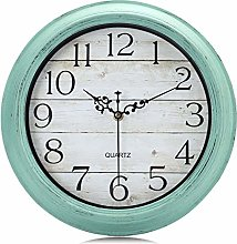 Lafocuse Green Turquoise Wall Clock 30cm Silent