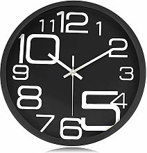Lafocuse Industrial Metal Silent Wall Clock Large