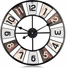 Lafocuse Large Black Windmill Wall Clock 60cm