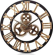 Lafocuse Large Industrial Gear Wall Clock 58cm