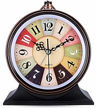Lafocuse Large Retro Colorful Alarm Clock Analog