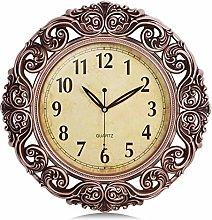 Lafocuse Large Rose Gold Filigree Wall Clock