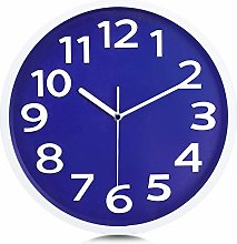 Lafocuse Luxury Royal Blue Wall Clock 30cm Silent