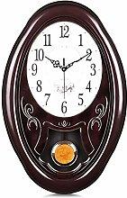 Lafocuse Mahogany Color Large Pendulum Wall Clock
