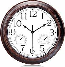 Lafocuse Mahogany Color Wall Clock with