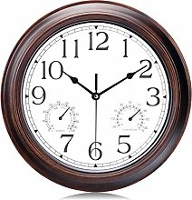 Lafocuse Mahogany Color Wall Clock with