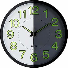Lafocuse Metal Luminous Wall Clock Black Silent