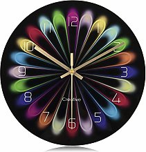 Lafocuse Modern Colorful Silent Wall Clock