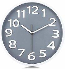 Lafocuse Modern Rock Gray Wall Clock 30cm Silent