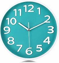 Lafocuse Modern Teal Green Wall Clock Silent 30cm