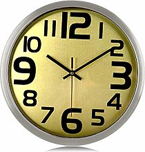 Lafocuse Retro Metal Silent Wall Clock Unique