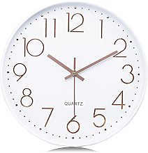 Lafocuse Rose Gold 3D Numerals Easy to Read White