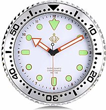 Lafocuse Silent Luminous Wall Clock White Car