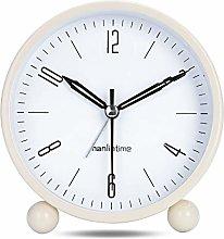 Lafocuse White Alarm Clock Analog Silent