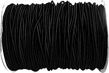 lahomia Heavy Duty Black 8mm Elastic Bungee Rope