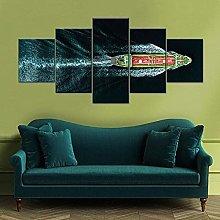 Laimi 5 Panel Canvas Wall Art Home Living Room