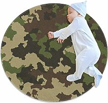 laire Daniel Army Green Camouflage Large Baby Rug