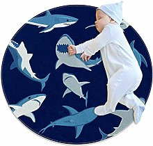 laire Daniel Fierce Shark Large Baby Rug for