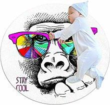 laire Daniel Monkey In A Rainbow Color Glasses