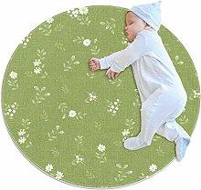 laire Daniel Small circular rug non slip round