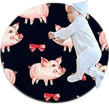 laire Daniel Washable floor mat circular rug round