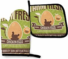 LAKILAN Retro Metal Sign Farm Fresh Chicken Eggs