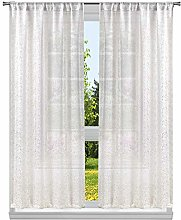 Lala + Bash Metallic Specks Window Curtain Set,