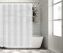 Lala + Bash shower curtain, White-Silver, 70x72