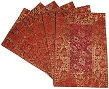 Lalhaveli Designer Handmade Silk fabric Red Color