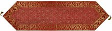 Lalhaveli Indian Handmade Silk Red Color Table