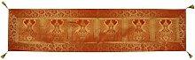 Lalhaveli Peacock Design Indian Silk Table Runner