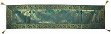 Lalhaveli Silk Table Runner Peacock Design