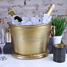 Lama Dal Large Vintage Gold Champagne Bucket Oval