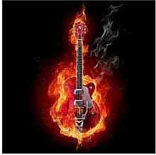 Lamberton Guitar in Flames 2.4m x 240cm