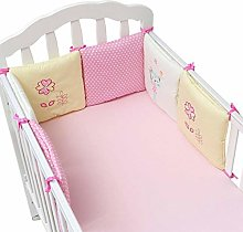 LAMEIDA Set of 6 Baby Cot Bumper Soft Cotton Bed