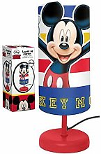 Lamp Bedside Cylinder Mickey Mouse Child Room red