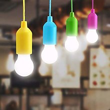 Lampop 4 Pack LED Pull Cord Light Bulb, Portable
