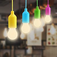 Lampop LED Pull Cord Light Bulb, Battery Operated