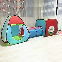 LAMPSJN 3 in 1 Pop Up Play Tent with Tunnel, Play